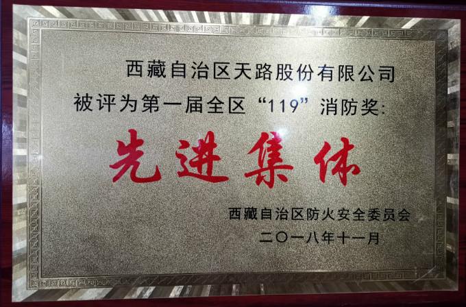 """2018年第一届全区""""119""""消防奖:先进集体"""