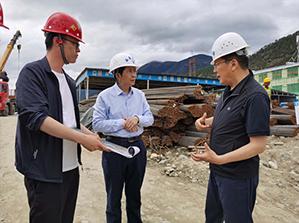 区政府国资委书记李海波易胜博亚洲官网在线公司项目视察工作